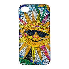 Sun From Mosaic Background Apple Iphone 4/4s Hardshell Case With Stand