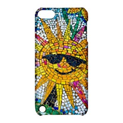 Sun From Mosaic Background Apple iPod Touch 5 Hardshell Case with Stand