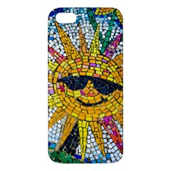 Sun From Mosaic Background Apple Iphone 5 Premium Hardshell Case