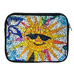 Sun From Mosaic Background Apple Ipad 2/3/4 Zipper Cases