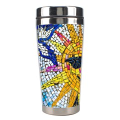 Sun From Mosaic Background Stainless Steel Travel Tumblers