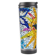 Sun From Mosaic Background Travel Tumbler