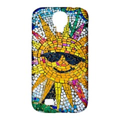 Sun From Mosaic Background Samsung Galaxy S4 Classic Hardshell Case (pc+silicone)