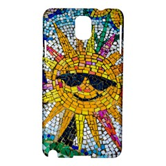 Sun From Mosaic Background Samsung Galaxy Note 3 N9005 Hardshell Case