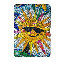 Sun From Mosaic Background Samsung Galaxy Tab 2 (10.1 ) P5100 Hardshell Case
