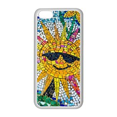 Sun From Mosaic Background Apple iPhone 5C Seamless Case (White)
