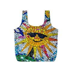 Sun From Mosaic Background Full Print Recycle Bags (s)
