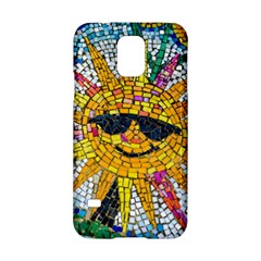 Sun From Mosaic Background Samsung Galaxy S5 Hardshell Case