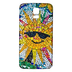 Sun From Mosaic Background Samsung Galaxy S5 Back Case (white)