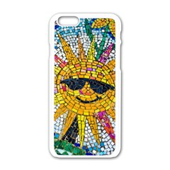 Sun From Mosaic Background Apple iPhone 6/6S White Enamel Case