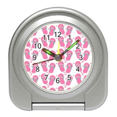 Flip Flops Flower Star Sakura Pink Travel Alarm Clocks