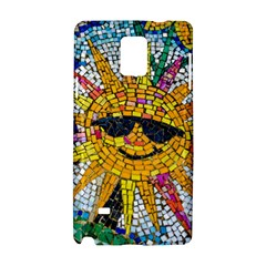 Sun From Mosaic Background Samsung Galaxy Note 4 Hardshell Case