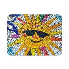 Sun From Mosaic Background Double Sided Flano Blanket (Mini)