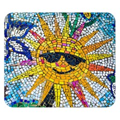 Sun From Mosaic Background Double Sided Flano Blanket (small)