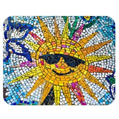Sun From Mosaic Background Double Sided Flano Blanket (Medium)