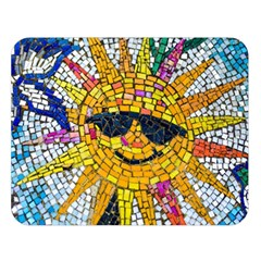 Sun From Mosaic Background Double Sided Flano Blanket (Large)