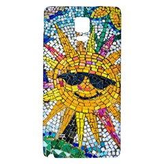 Sun From Mosaic Background Galaxy Note 4 Back Case