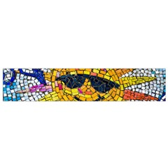 Sun From Mosaic Background Flano Scarf (Small)