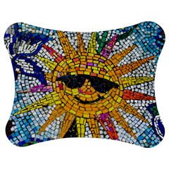 Sun From Mosaic Background Jigsaw Puzzle Photo Stand (Bow)