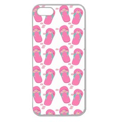 Flip Flops Flower Star Sakura Pink Apple Seamless iPhone 5 Case (Clear)