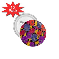 Colorful Floral Pattern Background 1.75  Buttons (10 pack)