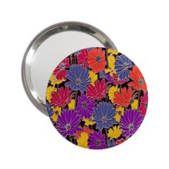Colorful Floral Pattern Background 2.25  Handbag Mirrors