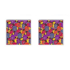 Colorful Floral Pattern Background Cufflinks (square)