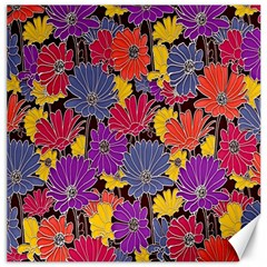 Colorful Floral Pattern Background Canvas 16  x 16