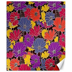 Colorful Floral Pattern Background Canvas 20  x 24