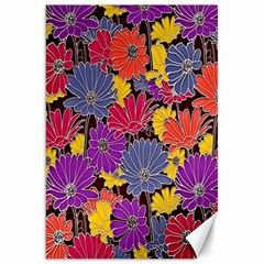 Colorful Floral Pattern Background Canvas 20  x 30