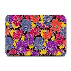 Colorful Floral Pattern Background Small Doormat