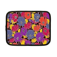 Colorful Floral Pattern Background Netbook Case (Small)