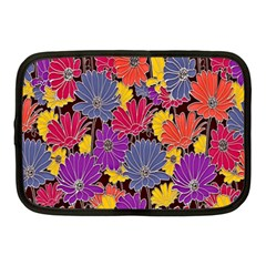 Colorful Floral Pattern Background Netbook Case (Medium)