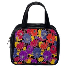 Colorful Floral Pattern Background Classic Handbags (One Side)