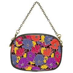 Colorful Floral Pattern Background Chain Purses (one Side)