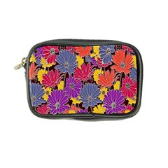 Colorful Floral Pattern Background Coin Purse