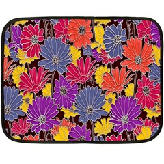 Colorful Floral Pattern Background Double Sided Fleece Blanket (Mini)