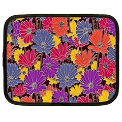 Colorful Floral Pattern Background Netbook Case (xxl)