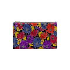 Colorful Floral Pattern Background Cosmetic Bag (Small)