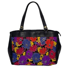Colorful Floral Pattern Background Office Handbags