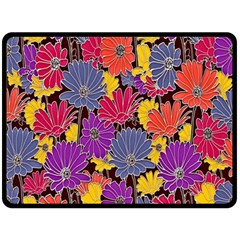 Colorful Floral Pattern Background Fleece Blanket (Large)