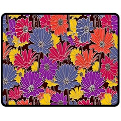 Colorful Floral Pattern Background Fleece Blanket (medium)