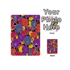 Colorful Floral Pattern Background Playing Cards 54 (Mini)