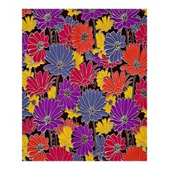 Colorful Floral Pattern Background Shower Curtain 60  X 72  (medium)