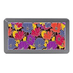 Colorful Floral Pattern Background Memory Card Reader (Mini)