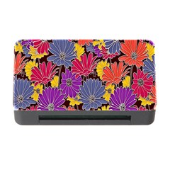 Colorful Floral Pattern Background Memory Card Reader With Cf
