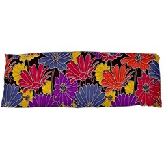 Colorful Floral Pattern Background Body Pillow Case (Dakimakura)