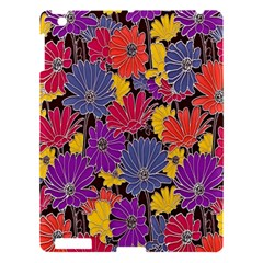 Colorful Floral Pattern Background Apple iPad 3/4 Hardshell Case