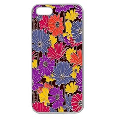 Colorful Floral Pattern Background Apple Seamless Iphone 5 Case (clear)