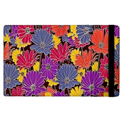Colorful Floral Pattern Background Apple Ipad 2 Flip Case